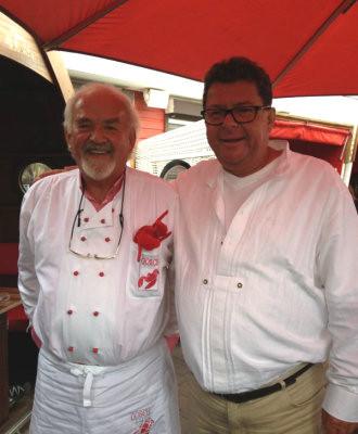 Deutschlands berühmtester Fisch-Unternehmer, Jürgen Gosch und Harald Schips auf Sylt